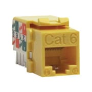 Tripp Lite Cat6/Cat5e 110 Style Punch Down Keystone Jack, Yellow
