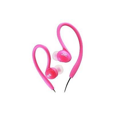 JVC HA-EBX85P Stereo Sports In-Ear Clip Headphone, Pink