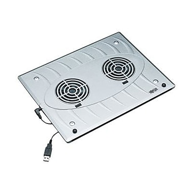 Tripp Lite NOTEABLES™ Notebook Cooling Pad W/2 USB Powered Fan, 0.54in.(H) x 9in.(W) x 11.8in.(L), Silver