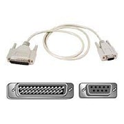 Belkin® Pro Series 1' AT Serial Modem Cable/Adapter, Black