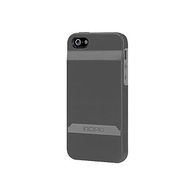 Incipio® Stashback Credit Card Hard Shell Case for Apple iPhone 5, Graphite Gray/Haze Gray