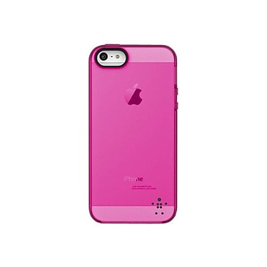 Belkin™ Grip Candy Sheer Case For iPhone 5, Blacktop/Day Glow