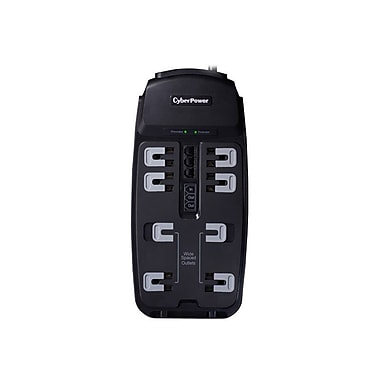 Cyberpower® CSP806T 8-Outlet 2250 Joule Professional Surge Protector With 6' Cord
