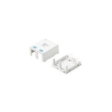 STEREN® 2 Socket Keystone Surface Mounting Box, White