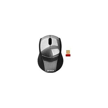 A4Tech® 3 Button 2.4 GHz DustFree HD Mouse, Carbon