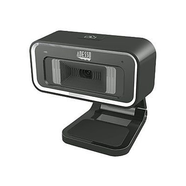 Adesso® CyberTrack H1 Webcam For Desktop, 1.3 MP