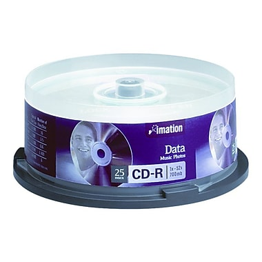 Imation 700MB 52X CD-R, Spindle, 25/Pack