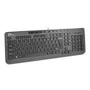 Siig® JK-US0712-S1 USB 1.1 Compact Multimedia Wired Keyboard, Black