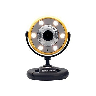 Gear Head™ WC1400 Webcam, 800 x 600, 1.3 MP, Yellow/Black