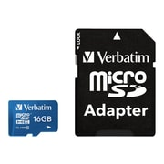 Verbatim® 16GB microSDHC (micro Secure Digital High Capacity) Class 10/UHS-1 Flash Memory Card, Blue