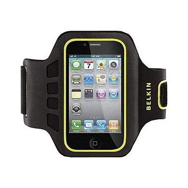Belkin™ Ease-Fit Armband Case For ipod, Black/Green