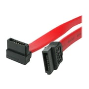 "4XEM™ 36"" Standard to Right Angle SATA Female/Female Cable, Red"