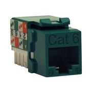 Tripp Lite Cat6/Cat5e 110 Style Punch Down Keystone Jack, Green