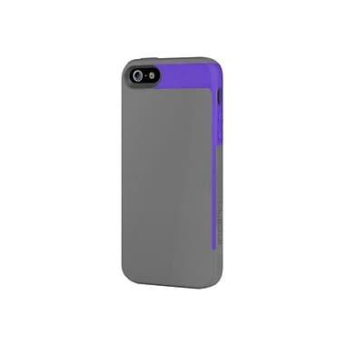 Incipio® Semi-Rigid Soft Shell Case for Apple iPhone 5, Royal Purple/Charcoal Gray