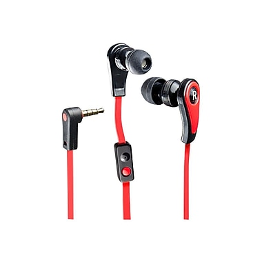 Syba™ Nature In-Ear Headphones With an In-Line Microphone, Red/Black