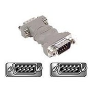 Belkin™ DB9 Male/Male Serial Gender Changer Adapter, Gray