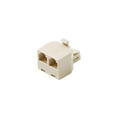 STEREN® 300-024 RJ-11 Male/Female Telephone Adapter, White