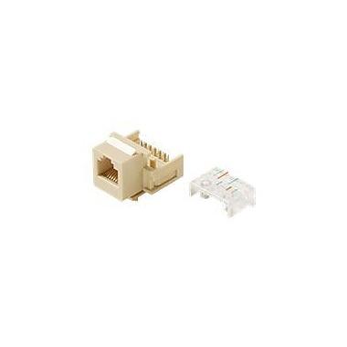 STEREN® 6P6C Telephone Keystone Modular Jack, White