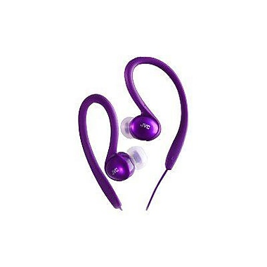 JVC HAEBX5 Sports Clip Headphone, Violet