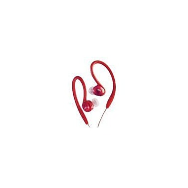 JVC HAEBX5 Sports Clip Headphone, Red