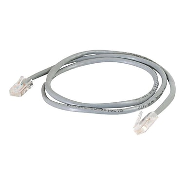 C2G 15 Cat5e Non Booted UTP Unshielded Network Patch Cable, Gray