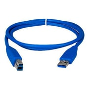 QVS® 3' USB 3.0 Type A Male To B Male Cable, Blue
