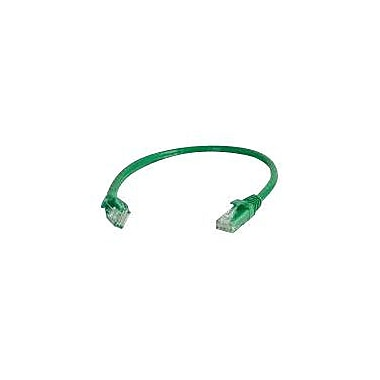 C2G® 6in. Cat5e RJ-45 Male/Male Snagless Unshielded (UTP) Network Patch Cable, Green