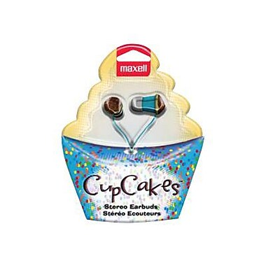Maxell VCCF-VAN Chocolate Frosting Cupcake Earbud, Blue