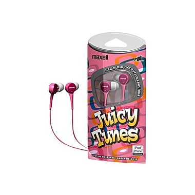 Maxell® 190239 JT Juicy Tunes Earphone, Pink