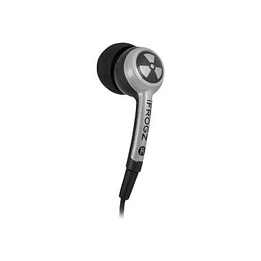 iFrogz Earpollution EPD33-SILVER Earphone, Black/Silver