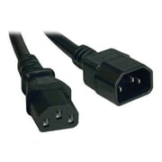 Tripp Lite® SJT C14/C13 Computer Power Extension Cord, 16 AWG, 4'