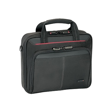 Targus® CN31US Classic Clamshell Carrying Case For 16in. Laptops, Black/Red
