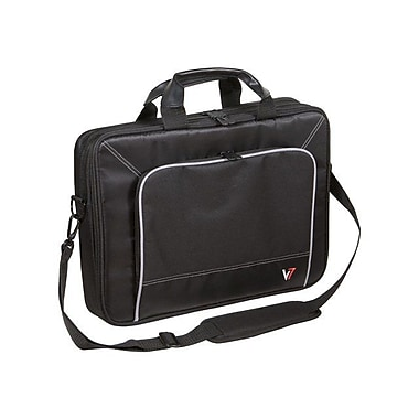 V7® CTP1-9N 16in. Professional Top Loader Laptop Case, Black/Grey
