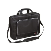 V7® CTP1-9N 16 Professional Top Loader Laptop Case, Black/Grey