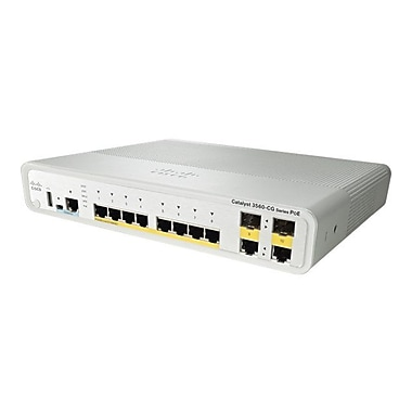 Cisco® Catalyst Ethernet Compact Switch, 10-Ports (WS-C3560CG-8PC-S)