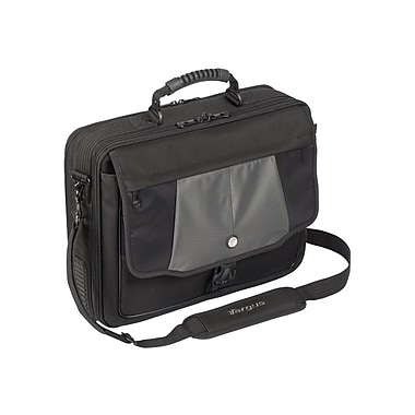 Targus® Blacktop Deluxe CPT401DUS 17in. Laptop Case With Dome Protection, Black/Gray