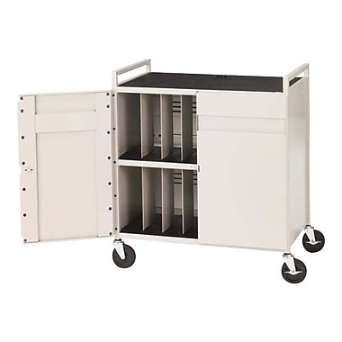 Bretford® LAPTG15ESA-GM Fully Assembled Laptop Storage Cart