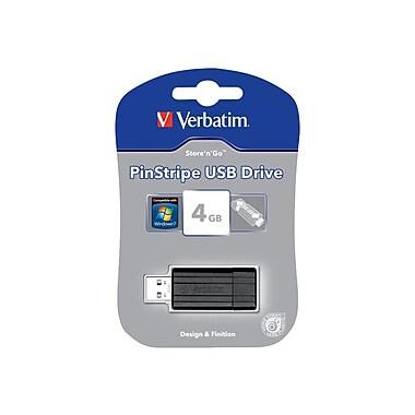 Verbatim® Store 'n' Go® 49061 USB 2.0 Sliding Pinstripe Flash Drive, 4GB