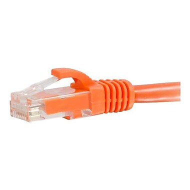 C2G® 3' Cat5e RJ-45 Male/Male Snagless Unshielded (UTP) Network Patch Cable, Orange