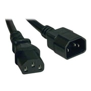Tripp Lite® SJT C14/C13 Computer Power Extension Cord, 16 AWG, 3'