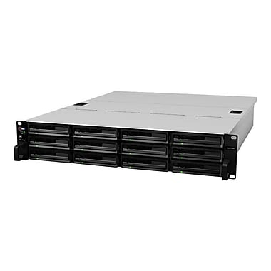Synology® 48TB Diskless Rack-Mountable Network NAS Server (Black)