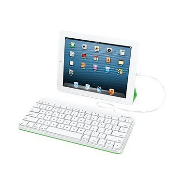 Logitech 920-006341 Wired Keyboard For iPad, White