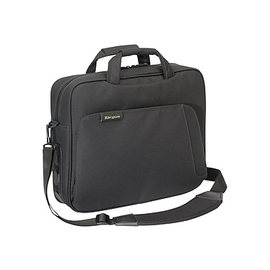 Targus® TBT049US Spruce EcoSmart Topload Carrying Case For 15.6in. Laptops, Black/Green
