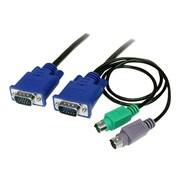 STARTECH.COM® SVECON10 3-In-1 Ultra Thin PS/2 KVM Cable, 10'