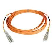 Tripp Lite 50' Fiber Optic LC/LC Duplex Patch Cable, Orange