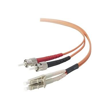 Belkin® 6.56' LC/ST Duplex Fiber Optic Patch Cable, Orange