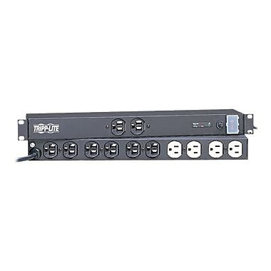 Tripp Lite IBAR12 12-Outlet 3840 Joule Rackmount Isobar Surge Suppressor With 15' Cord
