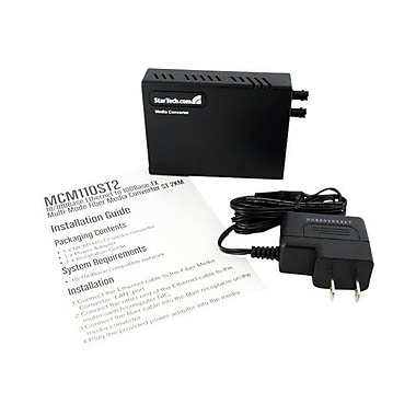 STARTECH.COM® MCM110ST2 10/100 Fiber to Multi Mode Fast Ethernet Media Converter