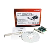 Startech.com®PEXUSB4DP High Speed USB Card