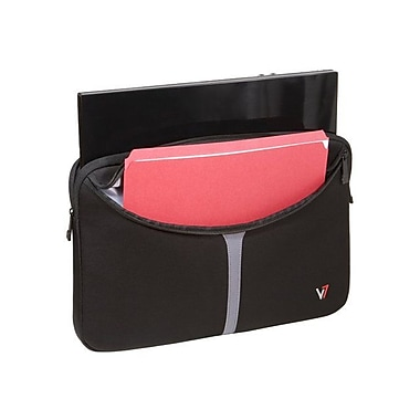V7® CSP1-9N 16in. Notebook Professional Sleeve, Black/Red Accents